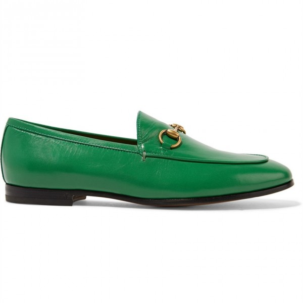 Green Square Toe Loafers for Women Comfortable Flats image 2