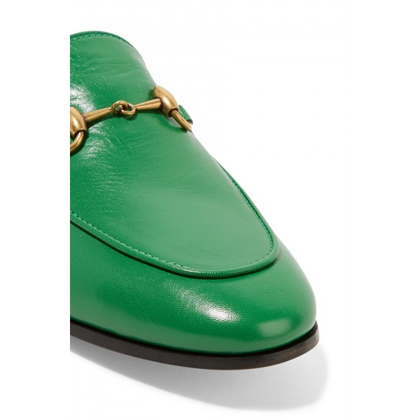 Green Square Toe Loafers for Women Comfortable Flats image 4