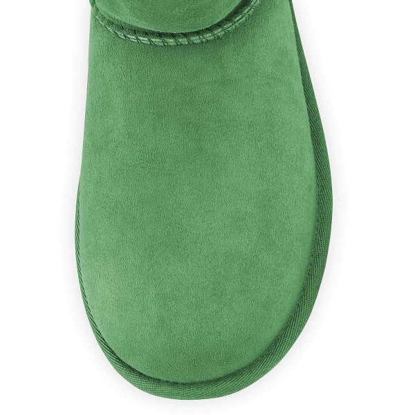 Green Suede Flat Winter Boots image 2