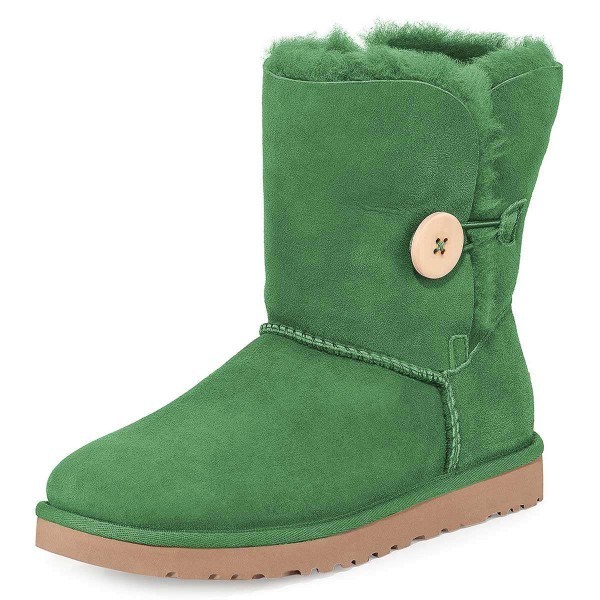 Green Suede Flat Winter Boots image 1