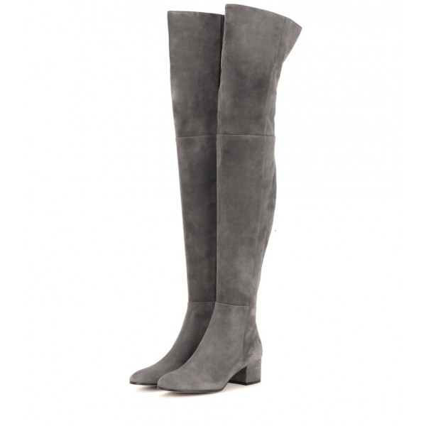 OVER THE KNEE SUEDE HEELED BOOTS | ZARA United States
