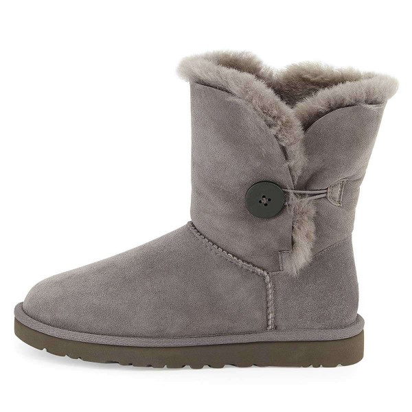 Grey Suede Flat Winter Boots image 2