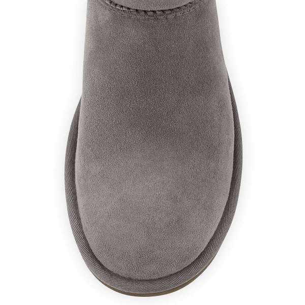 Grey Suede Flat Winter Boots image 3