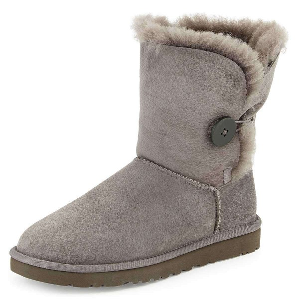 Grey Suede Flat Winter Boots image 1