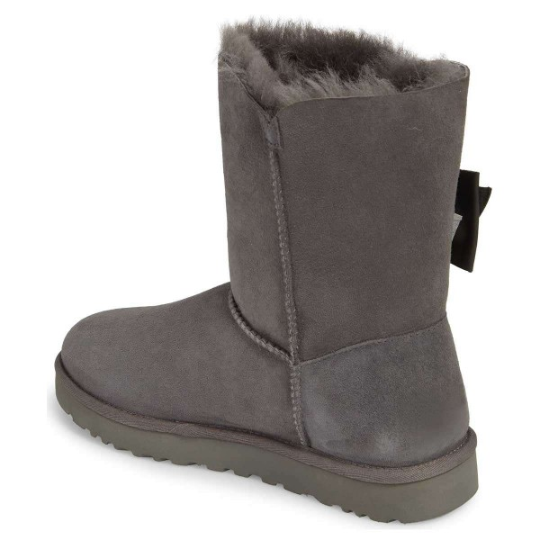 Grey Winter Boots Flat Suede Comfy Mid Calf Snow Boots US Size 3-15 image 2