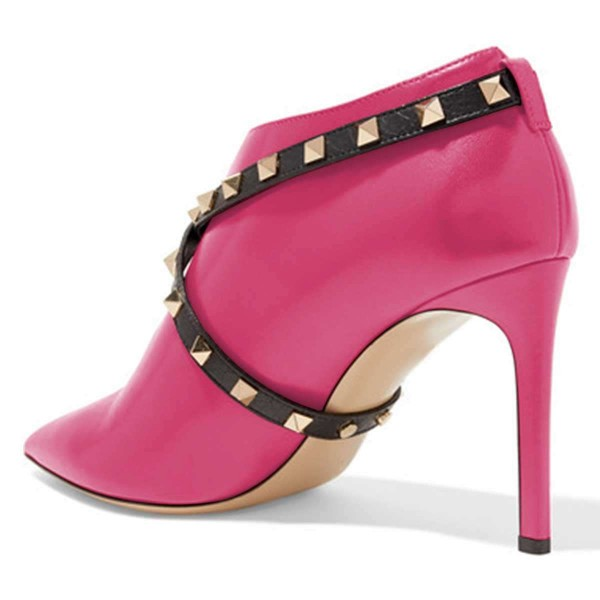 Orchid Studs Shoes Cross Over Stiletto Heel Ankle Boots image 2