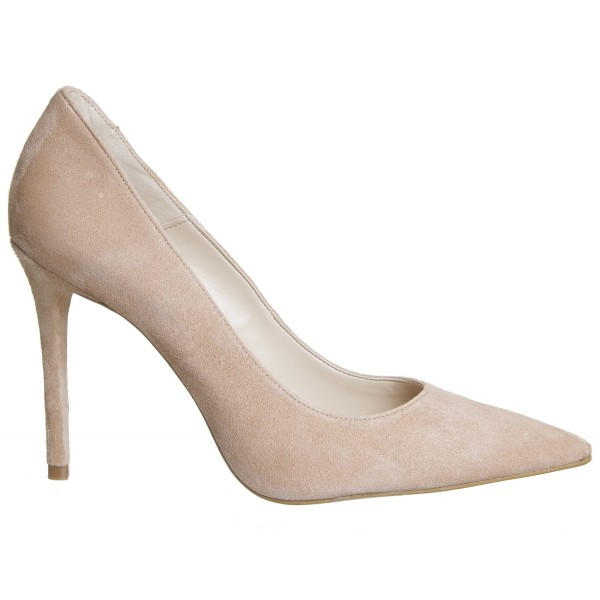 Khaki Suede Stiletto Heels Pointy Toe Pumps for Office Ladies image 3
