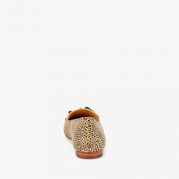 Khaki Leopard Print Flats Suede Loafers for Women with Tassels image 6