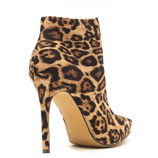 Leopard Print Boots Stiletto Heels Fashion Ankle Boots US Size 3-15 image 2