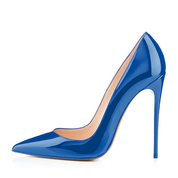 Blue Pointy Toe Stiletto Heels Pumps Office Shoes image 4