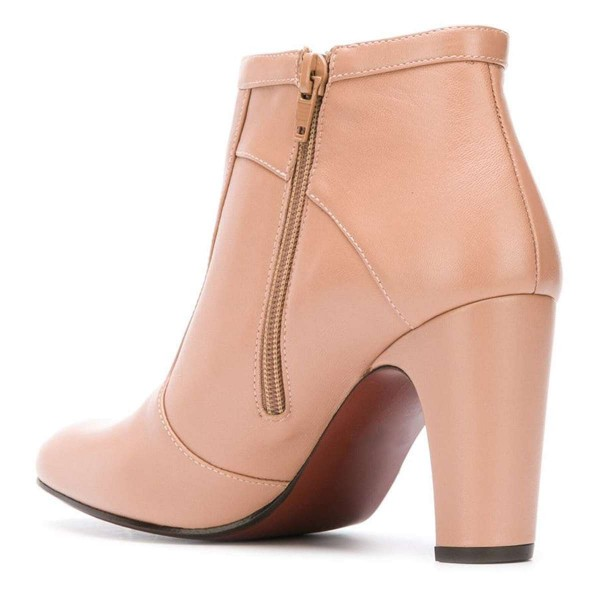 Nude Ankle Boot chunky Heel Boots image 3