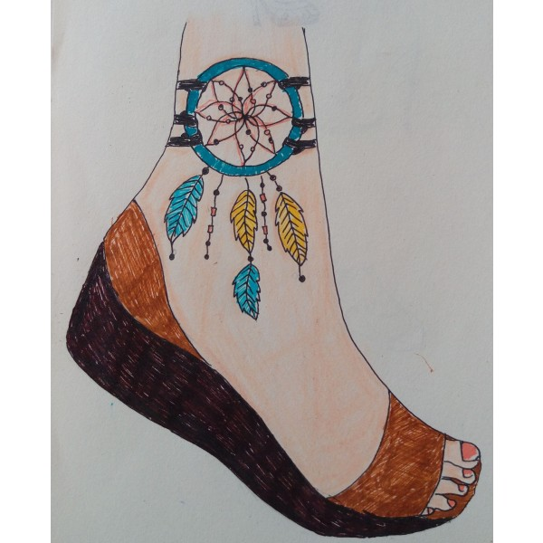 dreamcatcher feather open toes sandals image 1