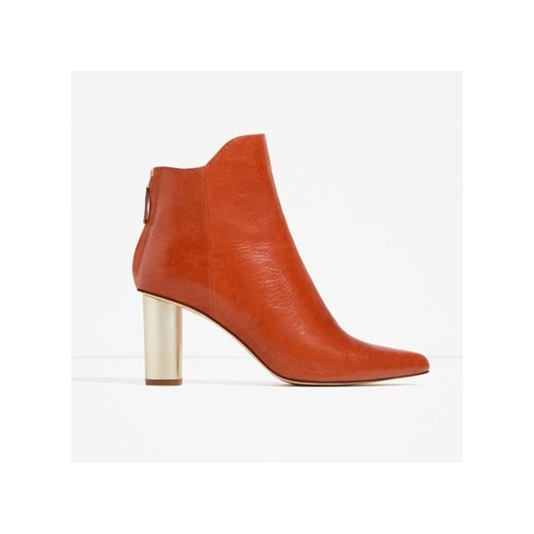 Orange Boots Fashion Block Heel Ankle Boots for Work US Size 3-15 image 2