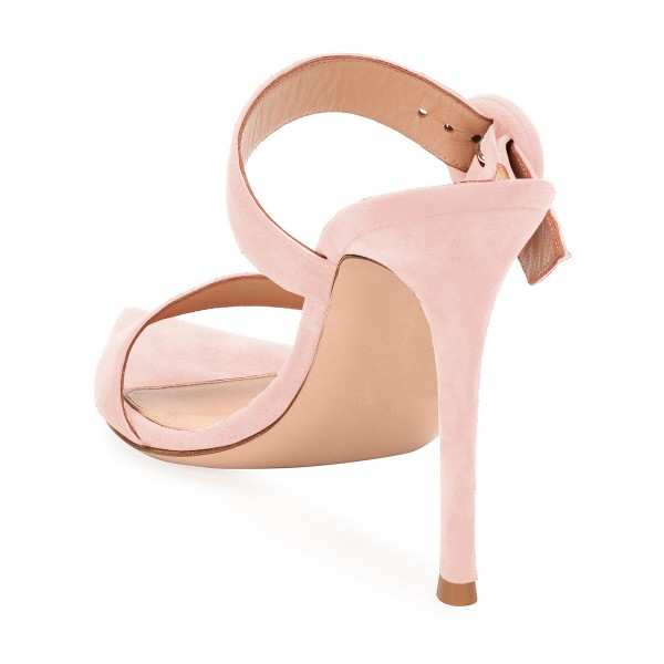 Pink Open Toe Stiletto Heels Mule Summer Sandals Sexy Shoes image 3