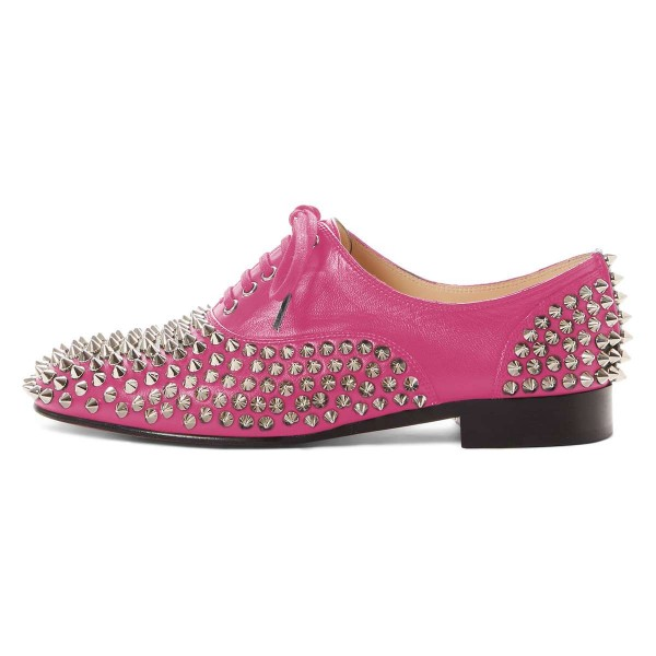 Pink Studs Shoes Lace Up Oxfords image 3