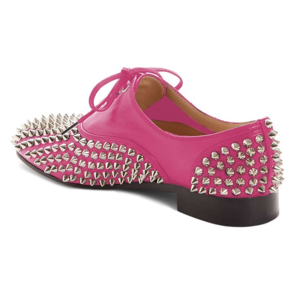 Pink Studs Shoes Lace Up Oxfords image 2