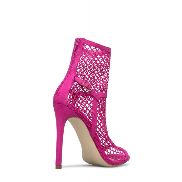 Orchid Summer Boots Stiletto Heels Hollow out Open Toe Ankle Booties image 3