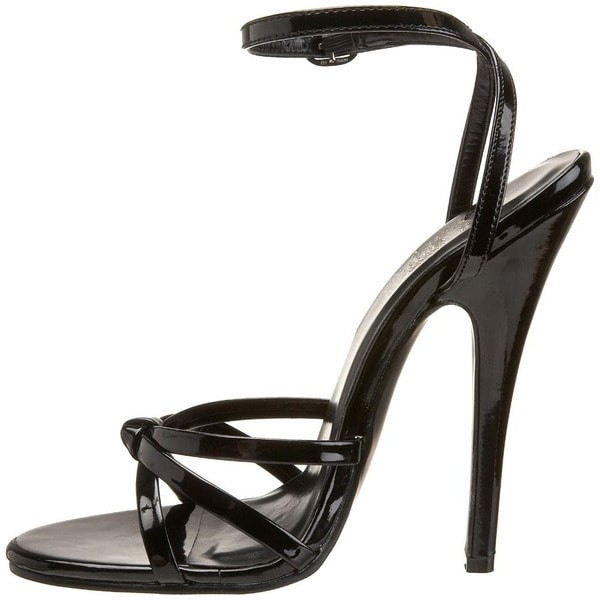 Women's Black Slingback Strappy Sandals image 1