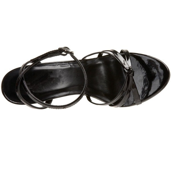 Women's Black Slingback Strappy Sandals image 2