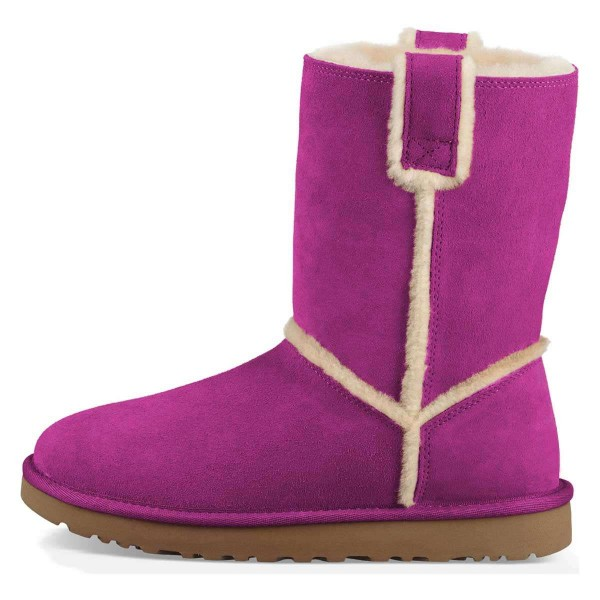 Purple Furry Winter Boots Flat Ankle Boots image 4