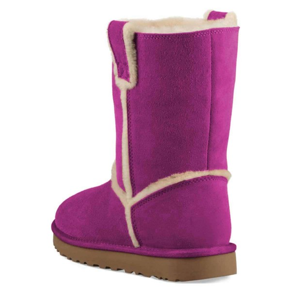 Purple Furry Winter Boots Flat Ankle Boots image 3