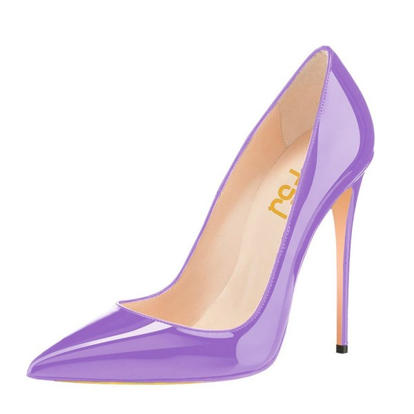 Purple Office Shoes Pointy Toe Stiletto Heels Pumps image 1