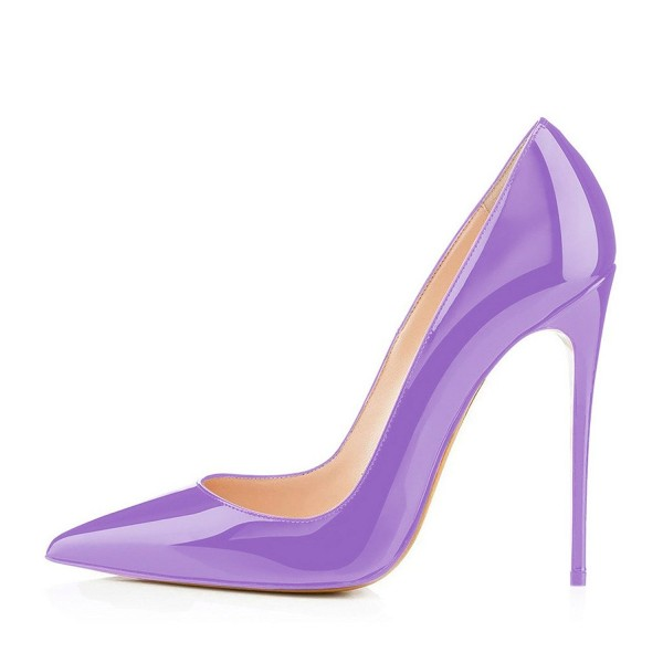 Purple Office Shoes Pointy Toe Stiletto Heels Pumps image 3