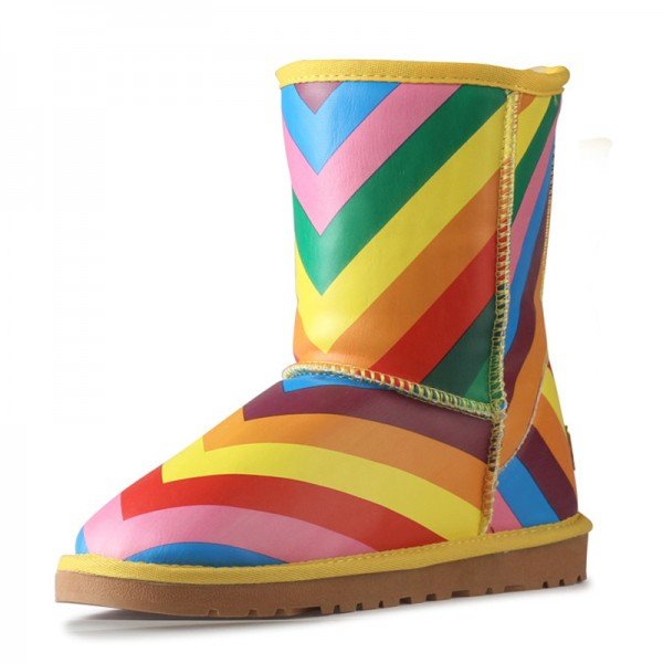 Rainbow Comfortable Shoes Winter Snow Boots US Size 3-15 image 2