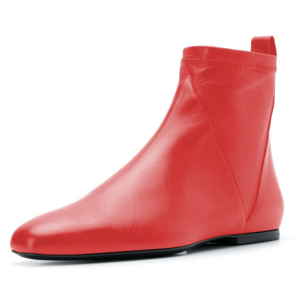 Flat Boots Ankle
