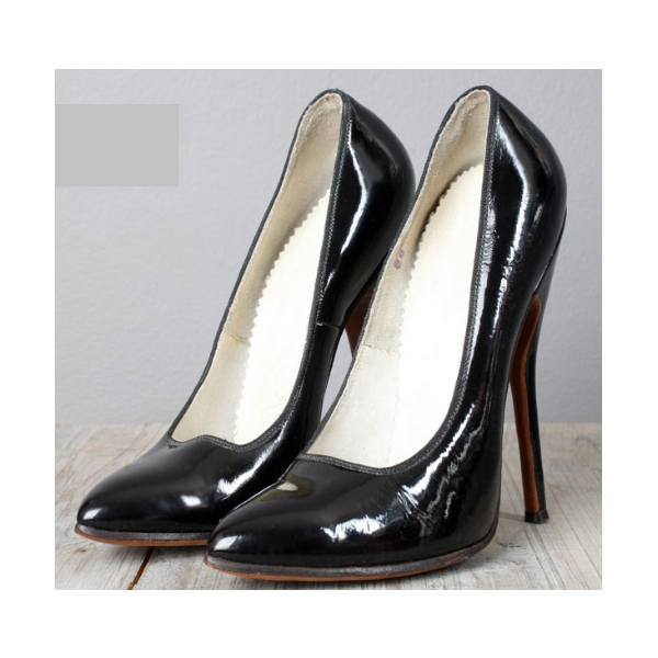 Women's Black Elegant Pointed Toe Stiletto Heel Leather Pumps image 1