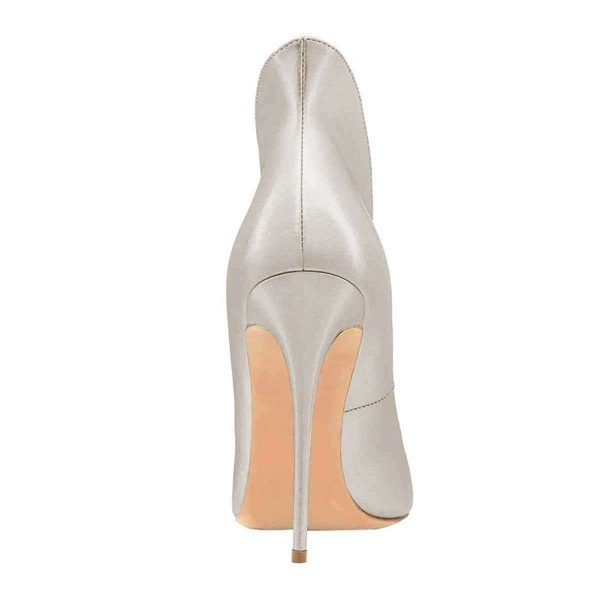 Silver Evening Shoes Stiletto Heels Collar Pumps Dress Shoes image 2