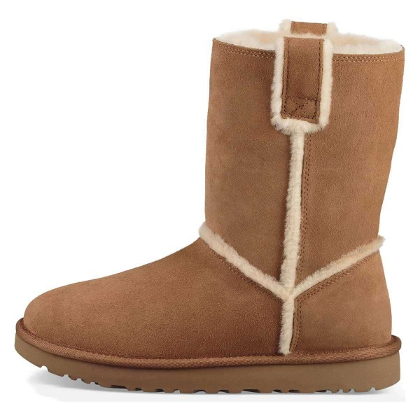 Tan Furry Winter Boots Flat Ankle Boots image 4