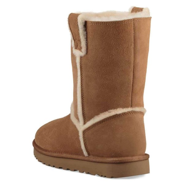 Tan Furry Winter Boots Flat Ankle Boots image 3
