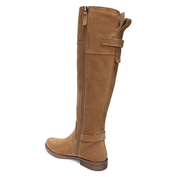 Tan Suede Flat Knee Boots Knee High Boots image 4