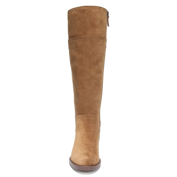 Tan Suede Flat Knee Boots Knee High Boots image 5