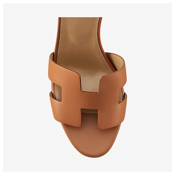 Tan Wedges Sandals Open Toe Vintage Legend Ankle Strap Sandals image 2