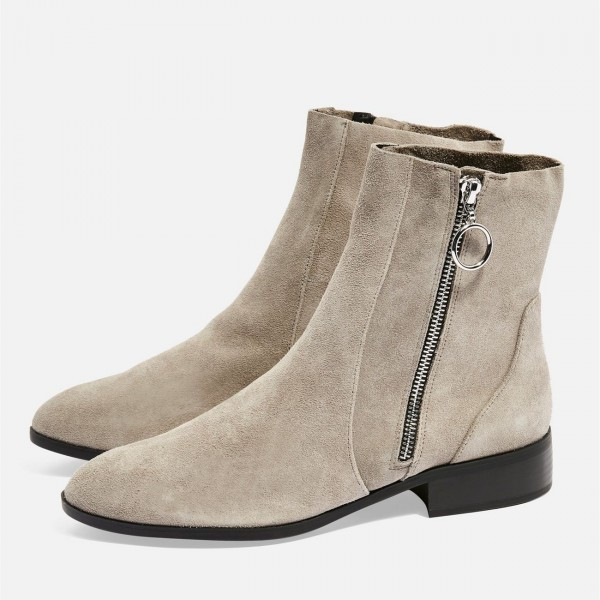 flat suede ankle boots cheap online