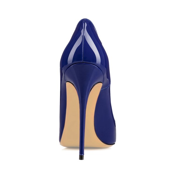 Women's Navy Pointy Toe Floral Office Heels Pumps image 4
