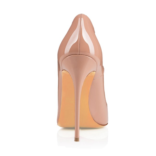 Women's Nude Pointy Toe Floral Office Heels Pumps image 4