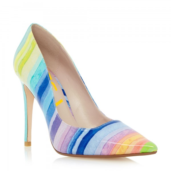Women's Colorful 3 Inch Heels Stiletto Heel Pointed Toe Pumps Shoes image 3