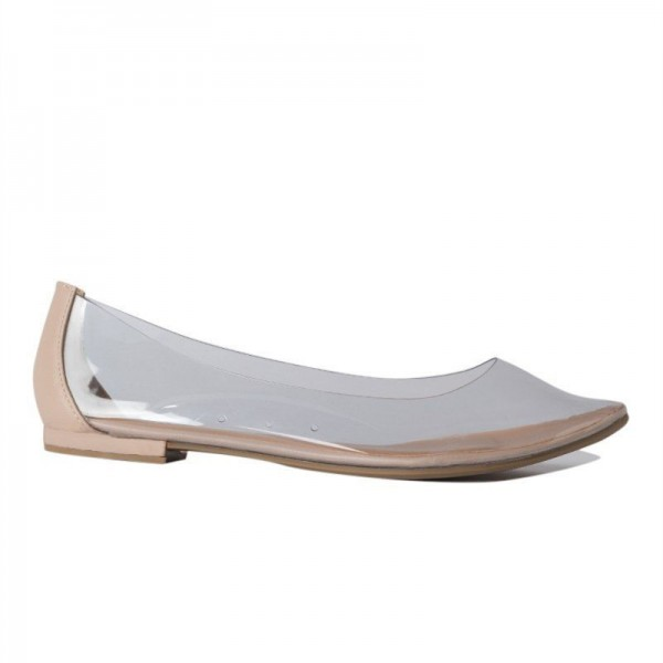 Trendy PVC Flat Clear Shoes See Through Pointy Toe Flats US Size 3-15 image 3