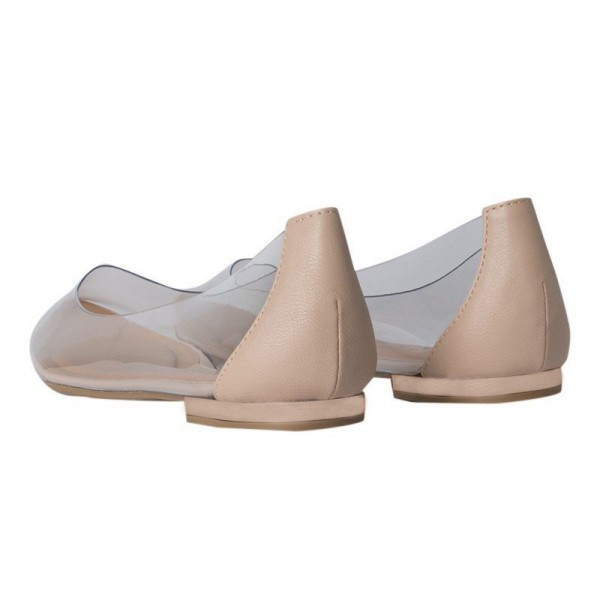 Trendy PVC Flat Clear Shoes See Through Pointy Toe Flats US Size 3-15 image 2