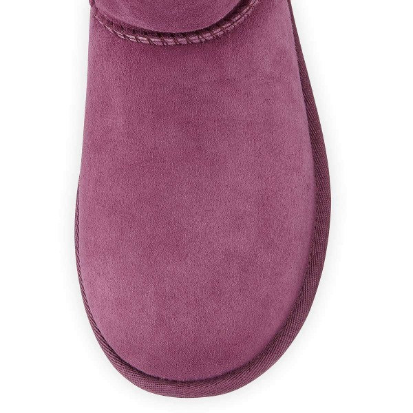 Violet Suede Flat Winter Boots image 3