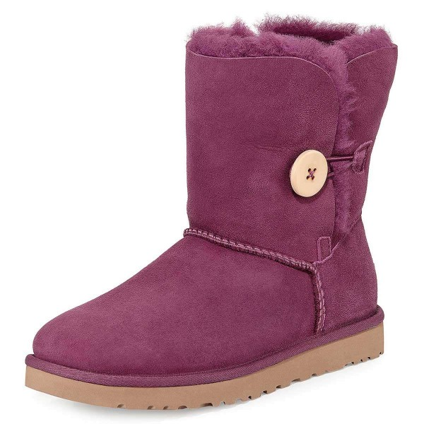 Violet Suede Flat Winter Boots image 1