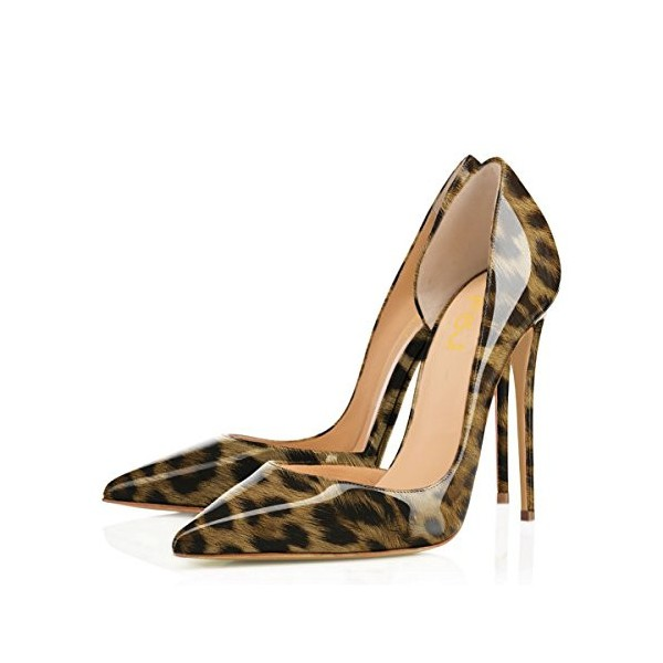 Leopard Print Heels Pointy Toe Sexy Stiletto Heels D'orsay Pumps image 1
