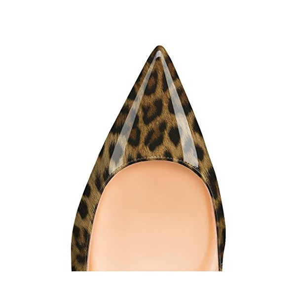 Leopard Print Flats Patent Leather Pointy Toe Comfortable Shoes image 4