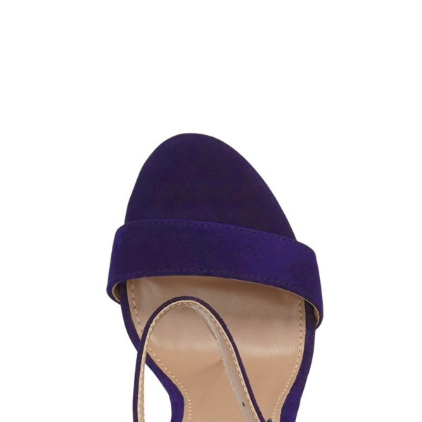 Women's Violet Open Toe Chunky Heel Ankle Strap Sandals  image 3