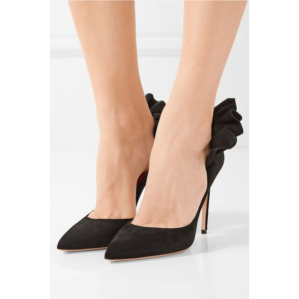 Women's Black Chic Evening Stiletto Heels Pumps Shoes image 4