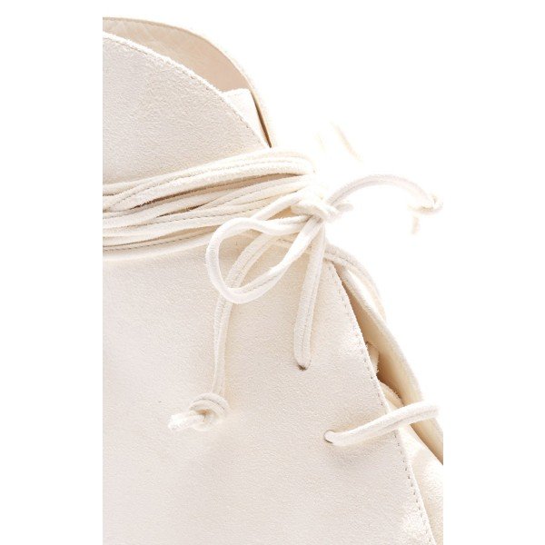 White Fashion Boots Kitten Heel Pointy Toe Strappy Ankle Booties image 6