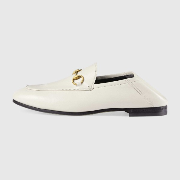 White Vintage Buckle Loafers for Women image 2